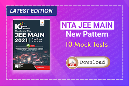[Pdf] Disha 10 Mock Tests for NTA JEE Main 2021 | Download Latest eBook