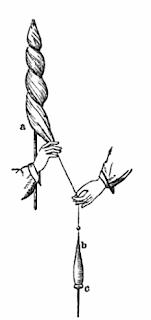 instrumentos como el huso.