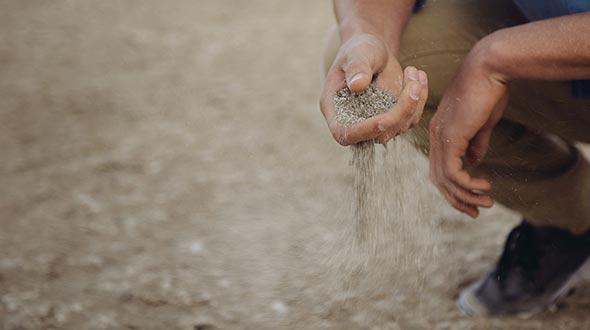 Silt soil is fertile but susceptible to erosion