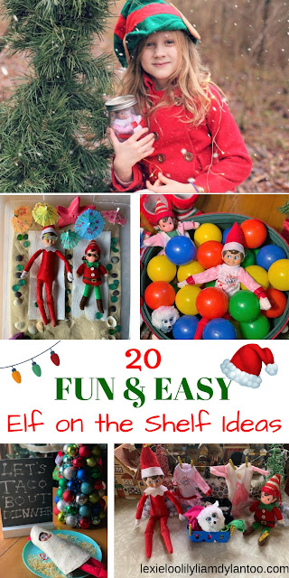 20 Fun and Easy Elf on the Shelf Ideas #elfontheshelf #elfontheshelfideas #easyelfontheshelfideas #funelfontheshelfideas #funnyelfontheshelfideas