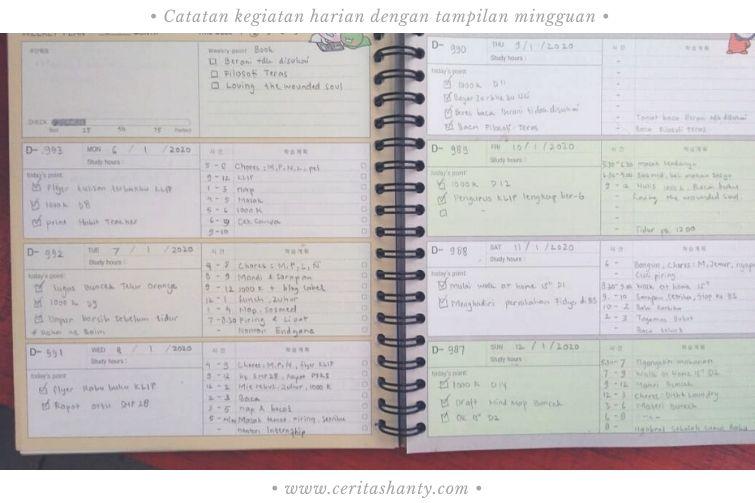agenda planner tahunan ninano