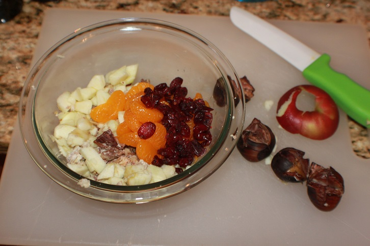chestnut stuffing with oranges and craisins