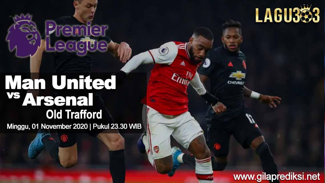Prediksi Sepak Bola Manchester United vs Arsenal 01 November 2020 pukul 23.30 WIB