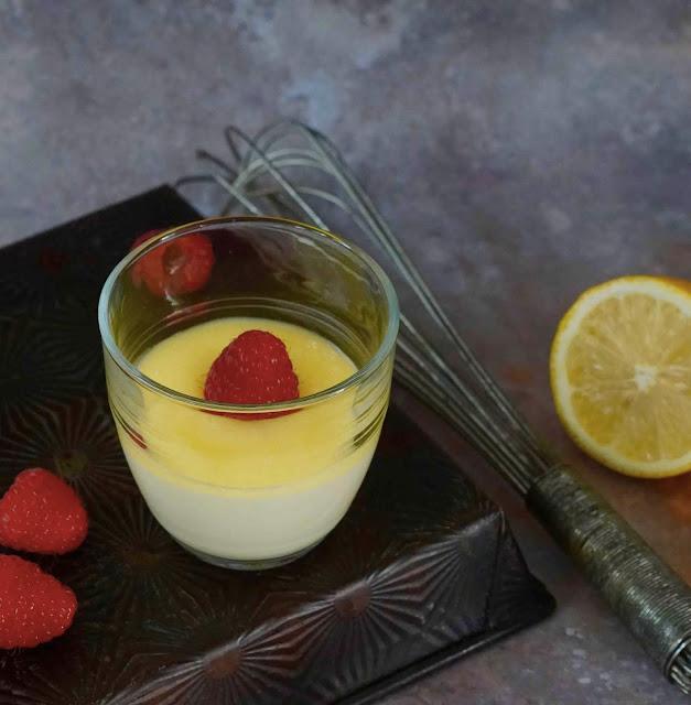 lemon posset , crème fondante au citron , dessert rapide , cuisine express