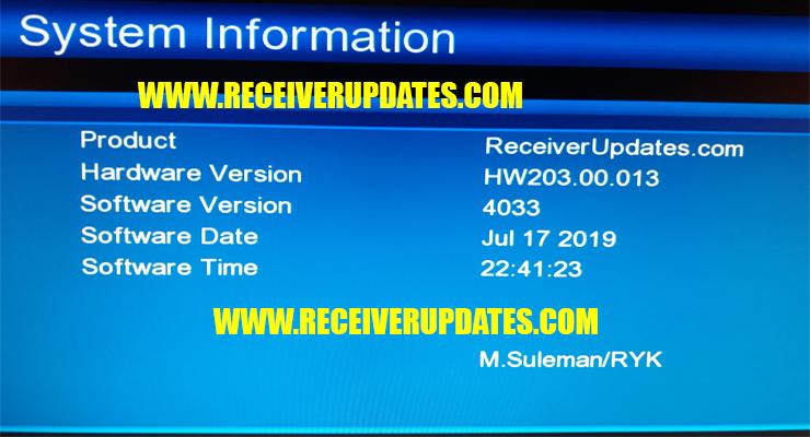 GX6605S HW203 00 013 HD RECEIVER NEW SOFTWARE TEN SPORTS