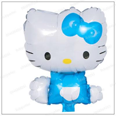 bong hinh kitty ngoi mau xanh