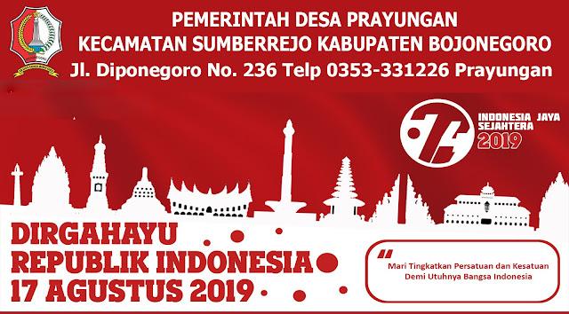 DIRGAHAYU REPUBLIK INDONESIA KE 74 TAHUN SDM MAJU INDONESIA UNGGUL
