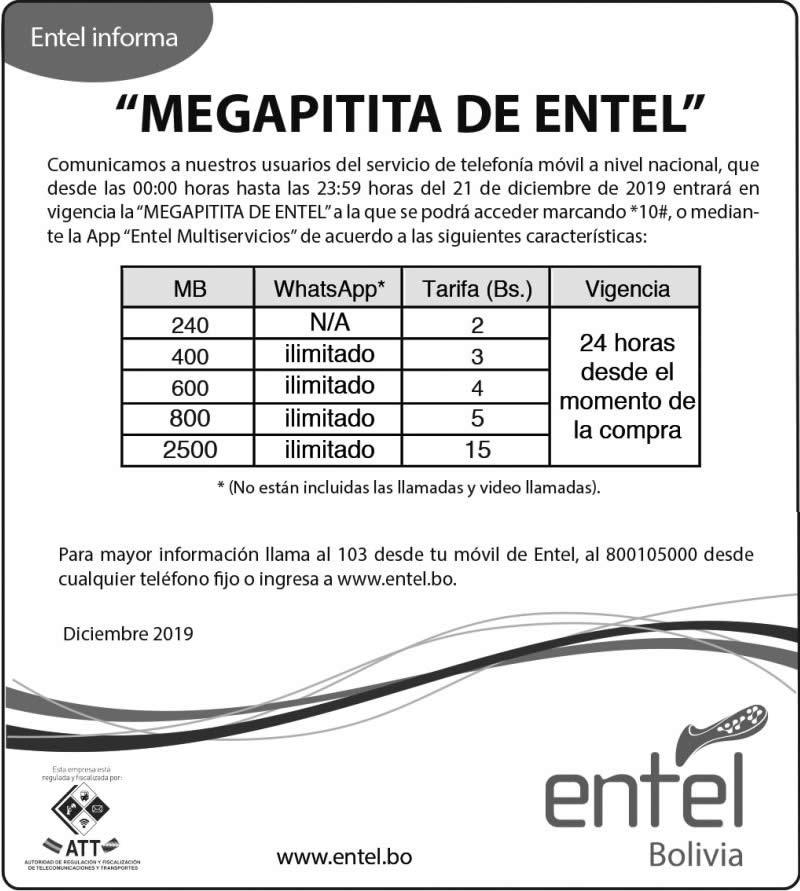 Entel presenta promoción la MegaPitita para reconocer la lucha de los jóvenes del 21F