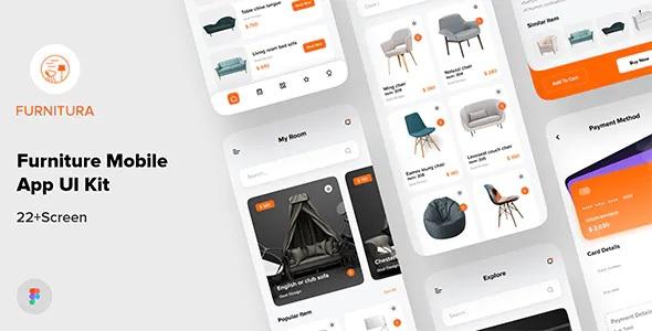 Best Furniture Mobile App UI Kit For Figma