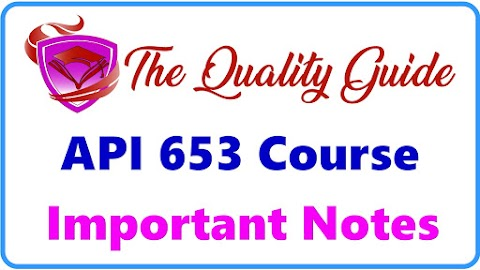 API 653 Course | Important Notes | Daily Points to Recall