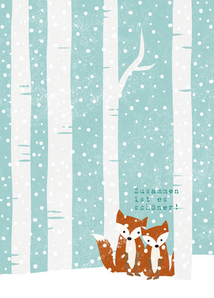 Zusammen durch den Winter, Winter Illustration