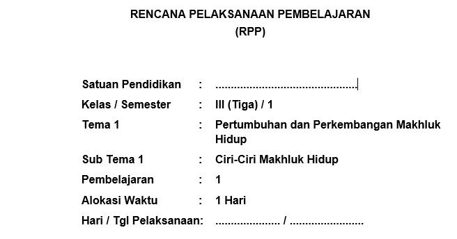 Rpp Kurikulum 2013 Kelas 3 Sd Mi Revisi 2018 Lengkap Rpp Kurikulum