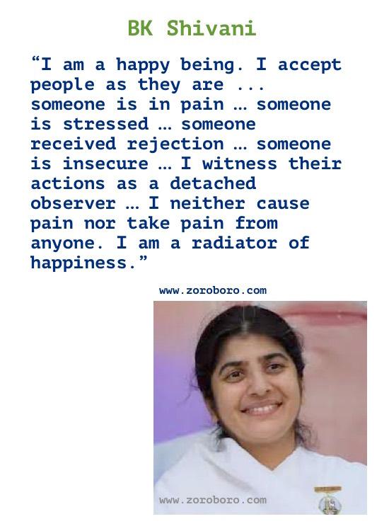 BK Shivani Quotes, BK Shivani Inspiraitonal Thoughts, BK Shivani Teachings Hindi/English, BK Shivani on Karma, Life, Relationship & Happiness in Hindi/ English, BK Shivani Motivational Quotes, BK Shivani Hindi Quotes / Brahma Kumaris
