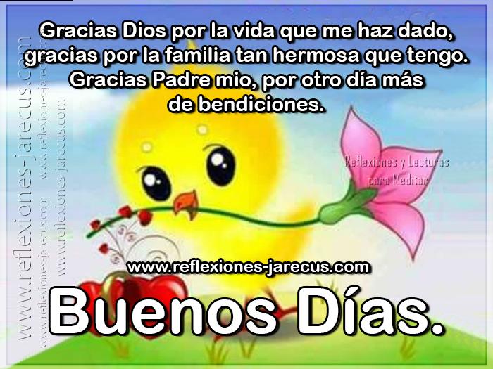Gracias Dios por la vida que me haz dado, gracias por la familia tan hermosa que tengo. Gracias Padre mio, por otro día más de bendiciones. Buenos días
