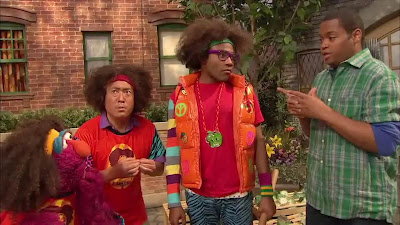 LMNOP Donald Glover, Alan, Chris, Telly, Sesame Street Episode 4317 Figure It Out Baby Figure It Out season 43