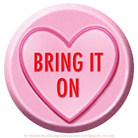 Bring it On text on Love Heart sweet free image for texting