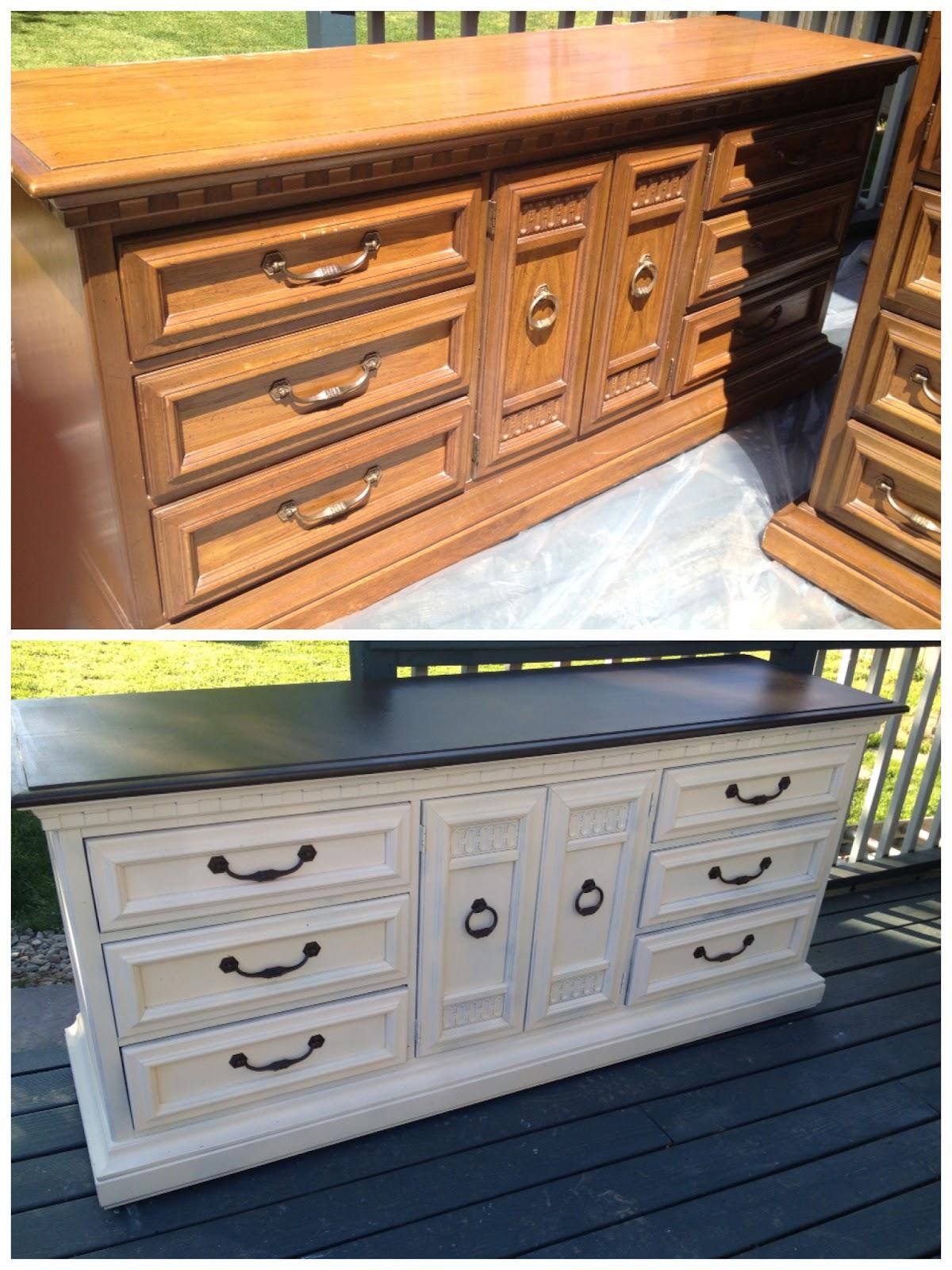 Kicking ass crafting refurbished dressers - Bedroom set up ideas ...