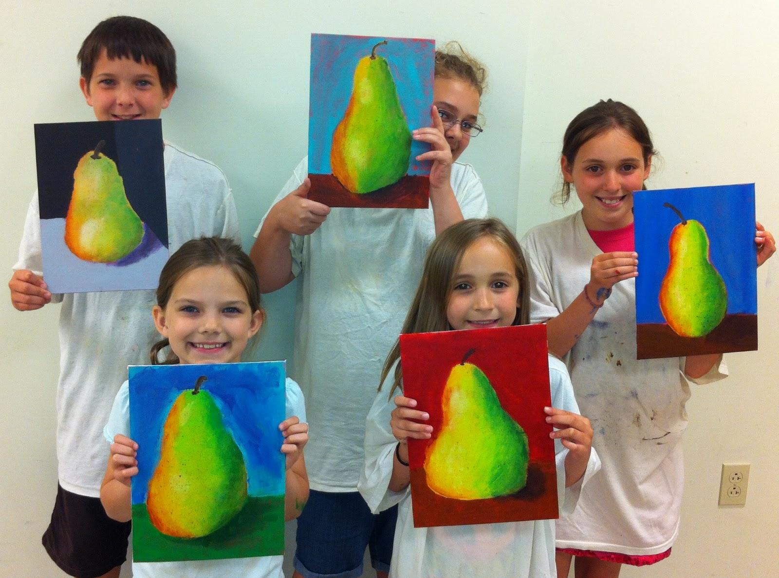 Angela Anderson Art Blog: Pear Acrylic Paintings - Kids ...