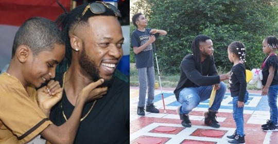 On Entertainment!! Flavour's Adopted Son Is A Year Older, Singer Celebrates With Photo Of All His Children