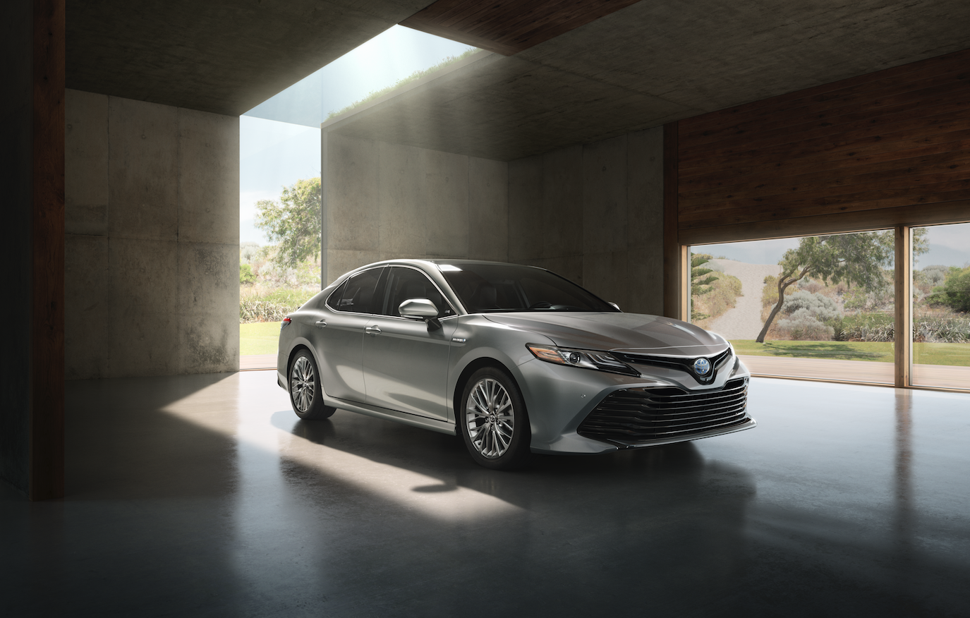 All New Camry 2018 Interior Toyota Thailand Introducing The In Addition To A More Modern Look Has Three Colors Wind Chill Pearl Brownstone And Galactic Aqua Mica
