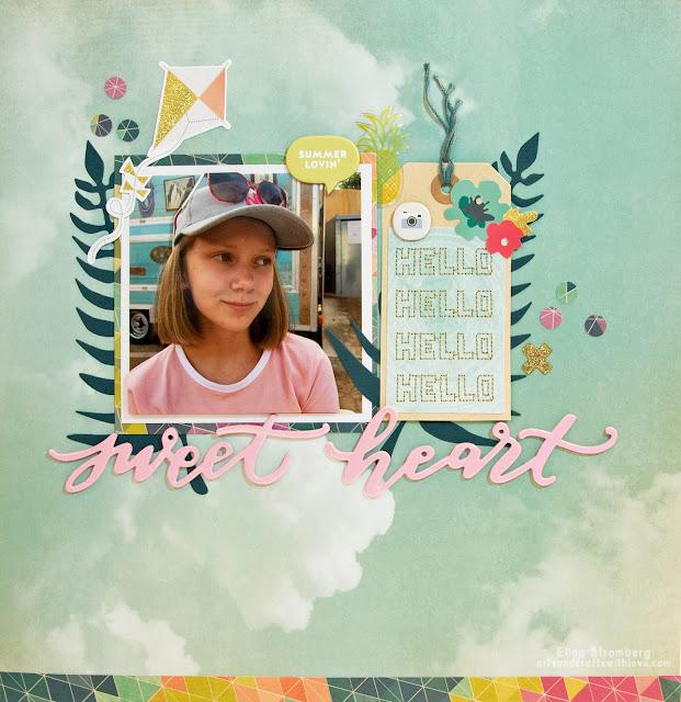 Scrapbooking layout: Sweetheart