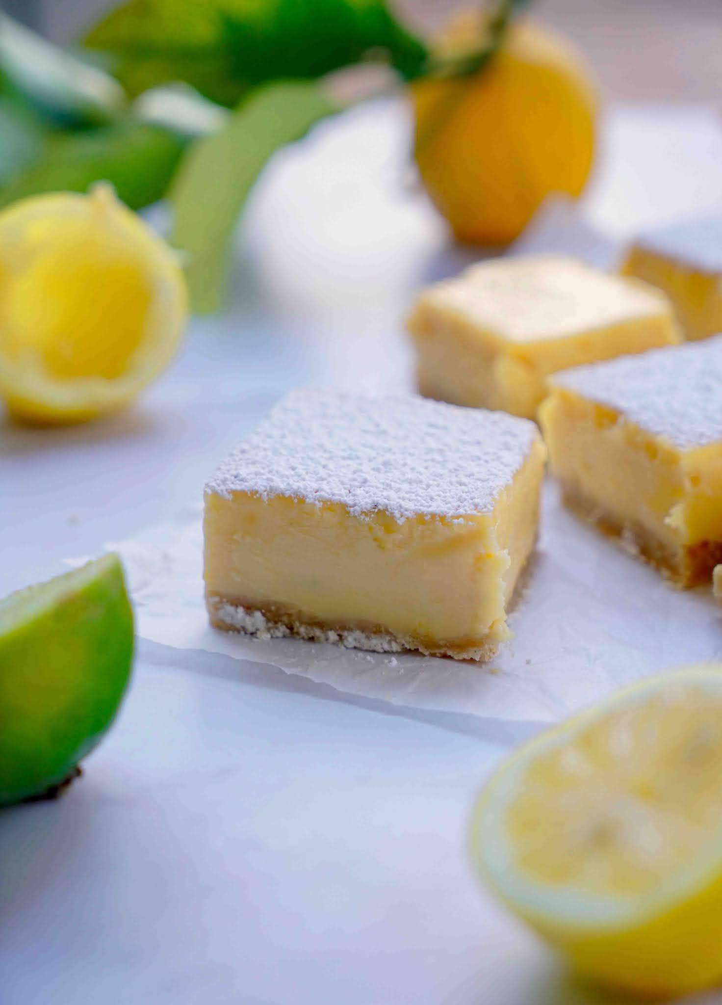 lemon square , lait concentré sucré , citrons