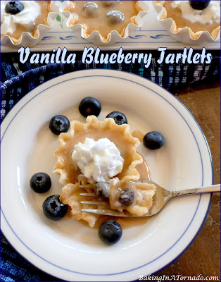 Vanilla Blueberry Tartlets by Baking In A Tornado