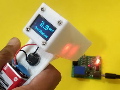 مشروع جهاز قياس درجة حرارة الاشخاص عن بعد