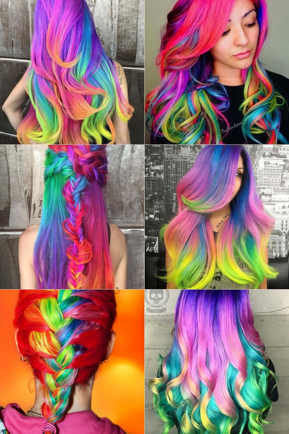 cabelos neon
