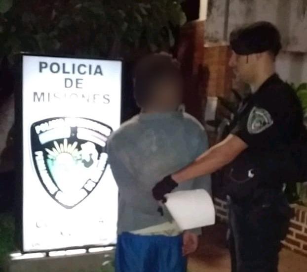 POSADAS - Policías detuvieron a un hombre que, tras romper vidrios, ingresó a un domicilio ajeno