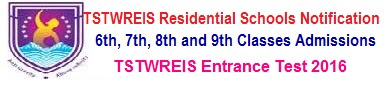 TSTWREIS Residential 5th Class Entrance Test 2018 Online Application tgtwgurukulam.telangana.gov.in