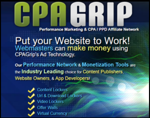 Sign Up CPAGrip Ad Technology.
