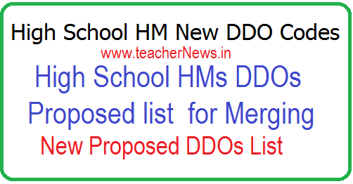 High School HM DDO Codes List of HS HMs DDOs Proposed for Merging