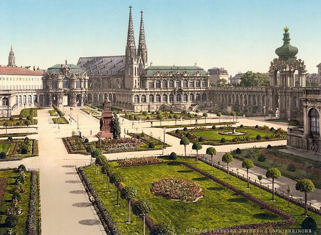 Zwinger palace before destruction second world war
