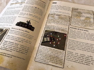 A section from the rules book for The Walking Dead: All Out War miniatures game