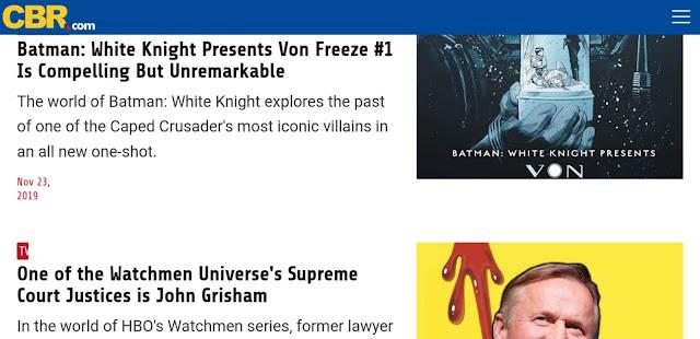 Crb comic - fun websites