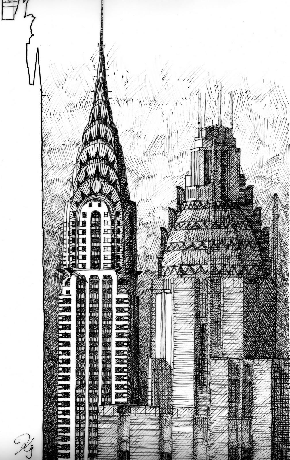 chrysler building sketch