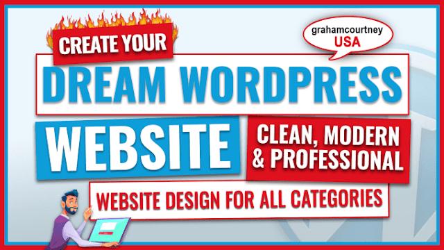 I will create wordpress website design,build website in 1day