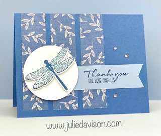 Stampin' Up! Dragonfly Garden Card ~ Jan-Jun 2021 Mini Catalog ~ www.juliedavison.com #stampinup