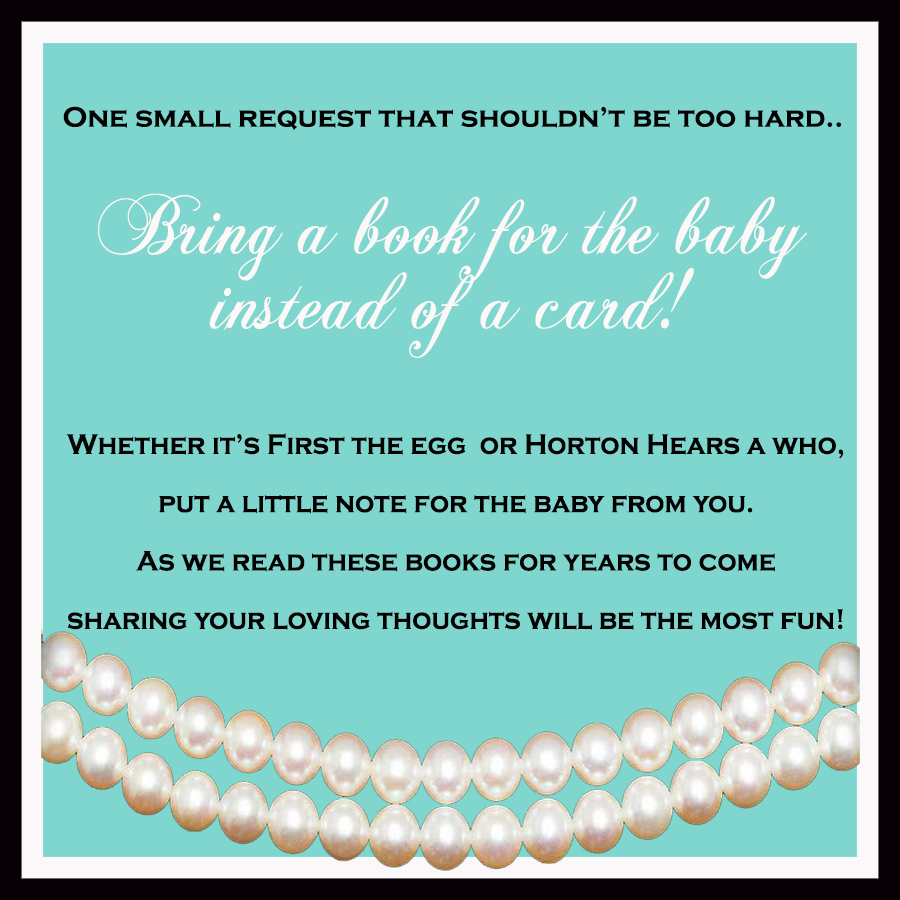 Giggle Bean: Breakfast At Tiffany\'s Baby Shower