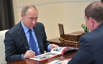 Vladimir Putin met with Orel Region Governor Vadim Potomsky.