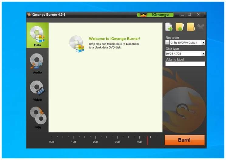IQmango Free DVD Burner : Δωρεάν  λογισμικό για την εγγραφή DVD  και CD