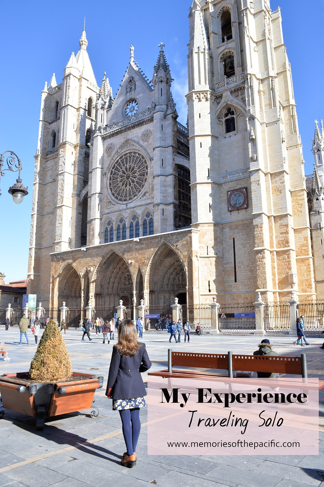 cathedral leon spain girl traveling solo