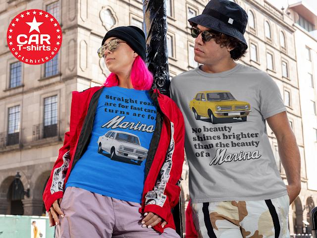 Morris Marina Sedan - retro car T-shirts