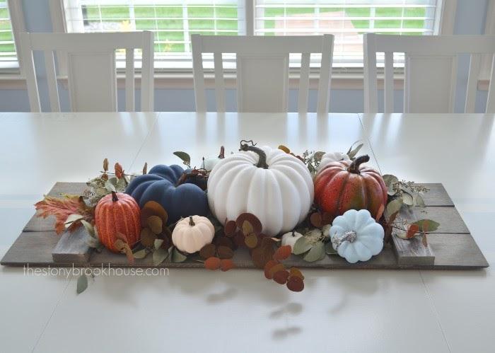 Dining Table Fall Pumpkins