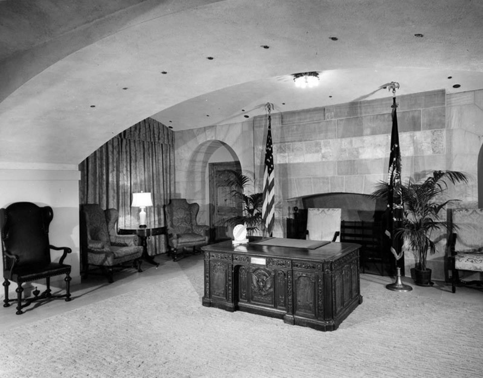 Broadcast Room on ground floor. 1952.