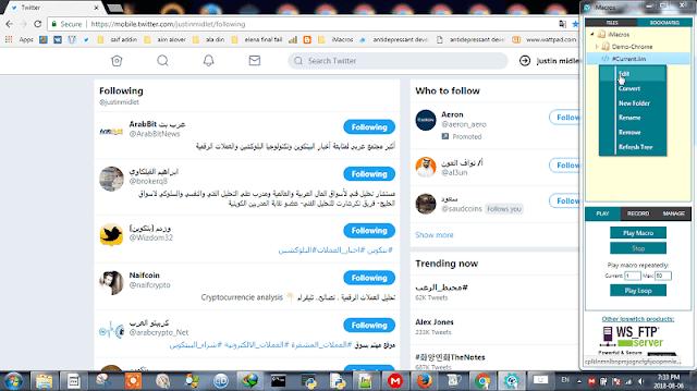 imcros twitter unfollow script installation
