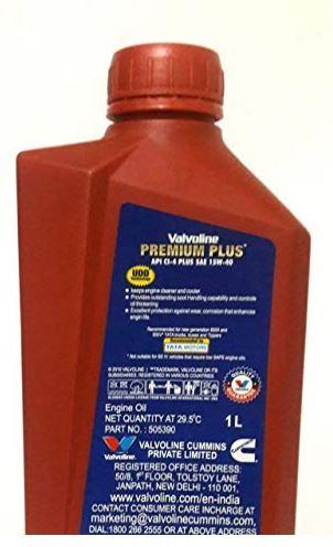 Valvoline Premium Plus 15W40 CI4 Plus Engine Oil - 1 Litre