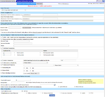 SBI New Account Online Form