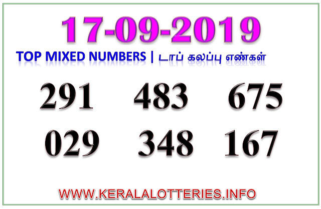 Kerala Lottery Result Guessing Sthree Sakthi SS-175 Best Mixed Numbers 17.09.2019